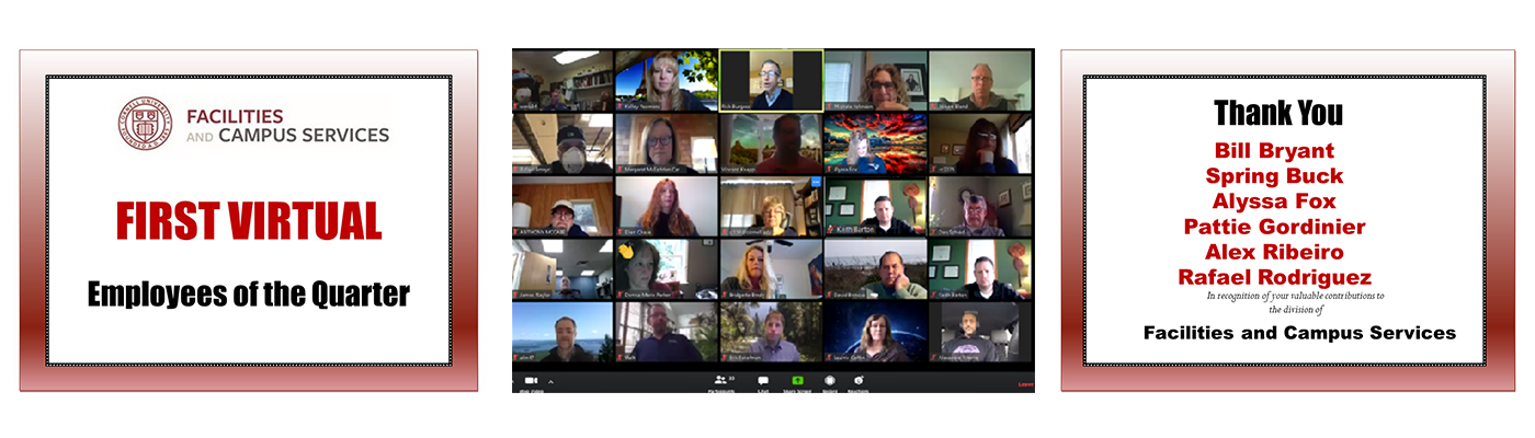 Employee Virtual Recognition snapshot of zoom attendees
