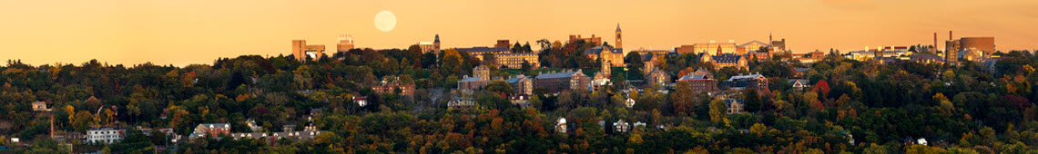 Panoramic view of Cornell from Ithaca