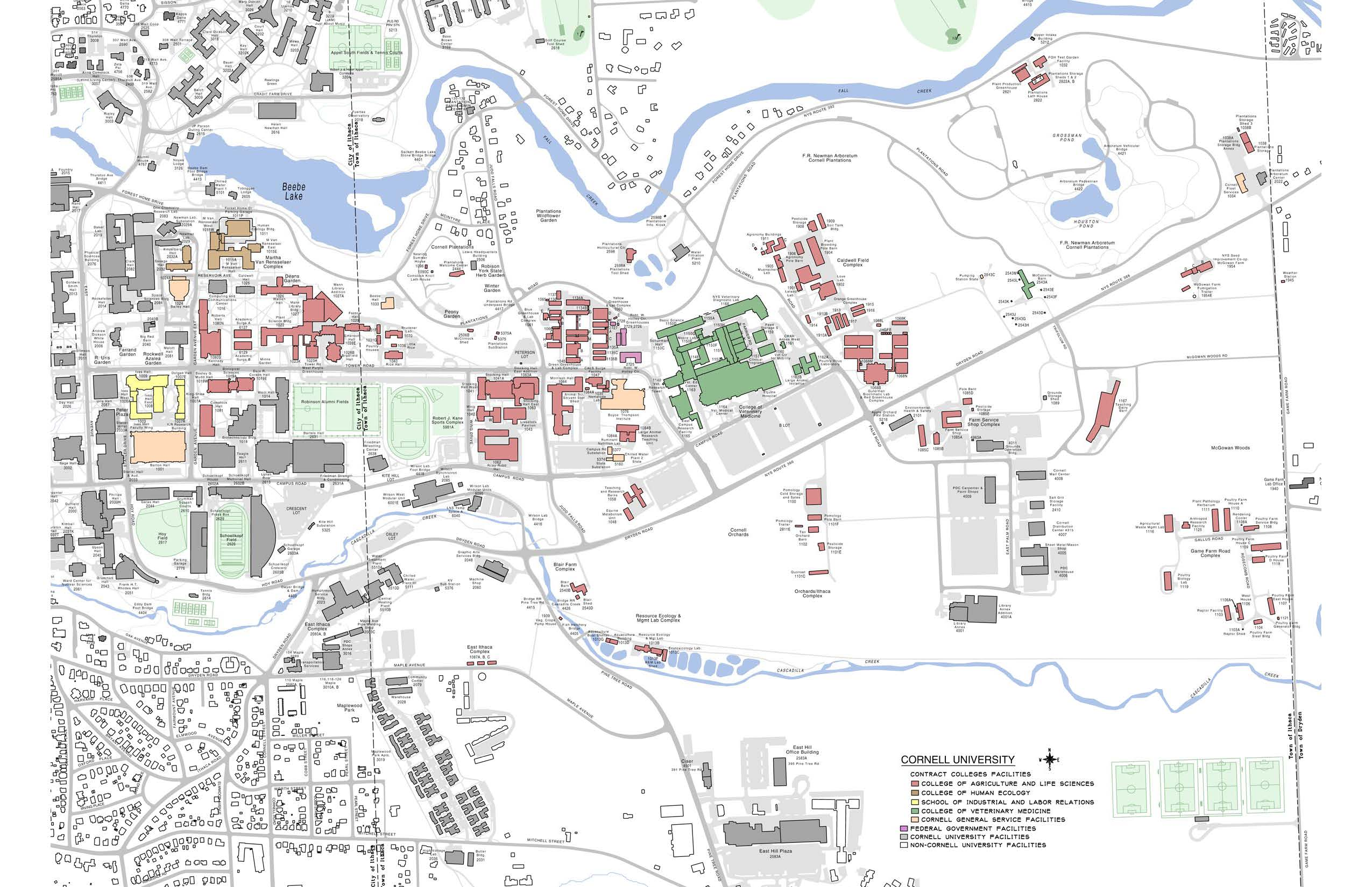 Central Campus Map | Facilities And Campus Services