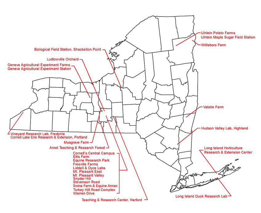 Hudson Valley Campus Map.Contract Colleges Facilities Location Maps Facilities And Campus