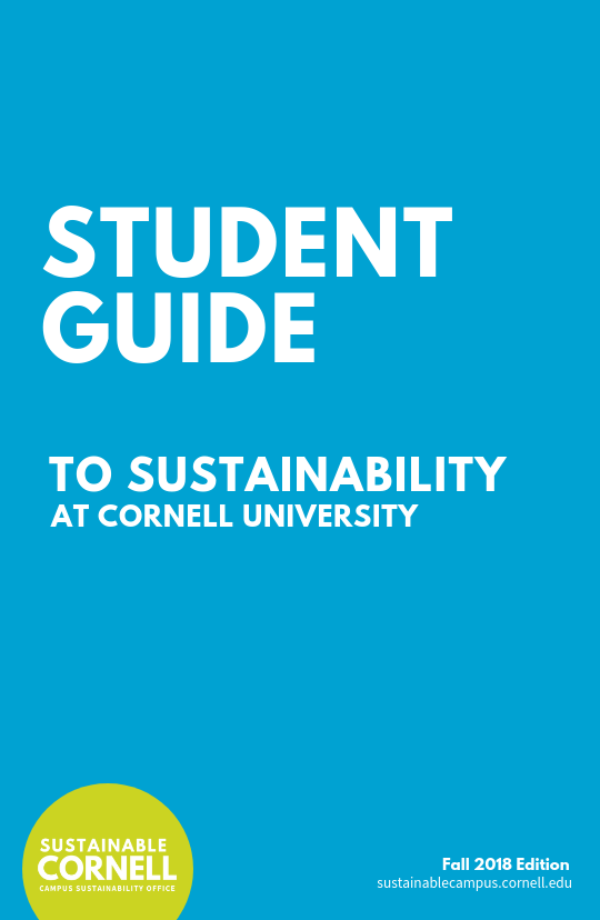 Cover page of the CSO's guide to living sustainably