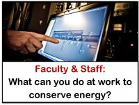 what faculty and staff can do to conserve