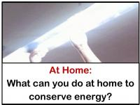 what you can do at home to save energy