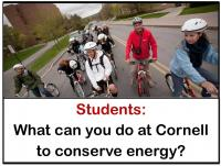 what can students do save energy