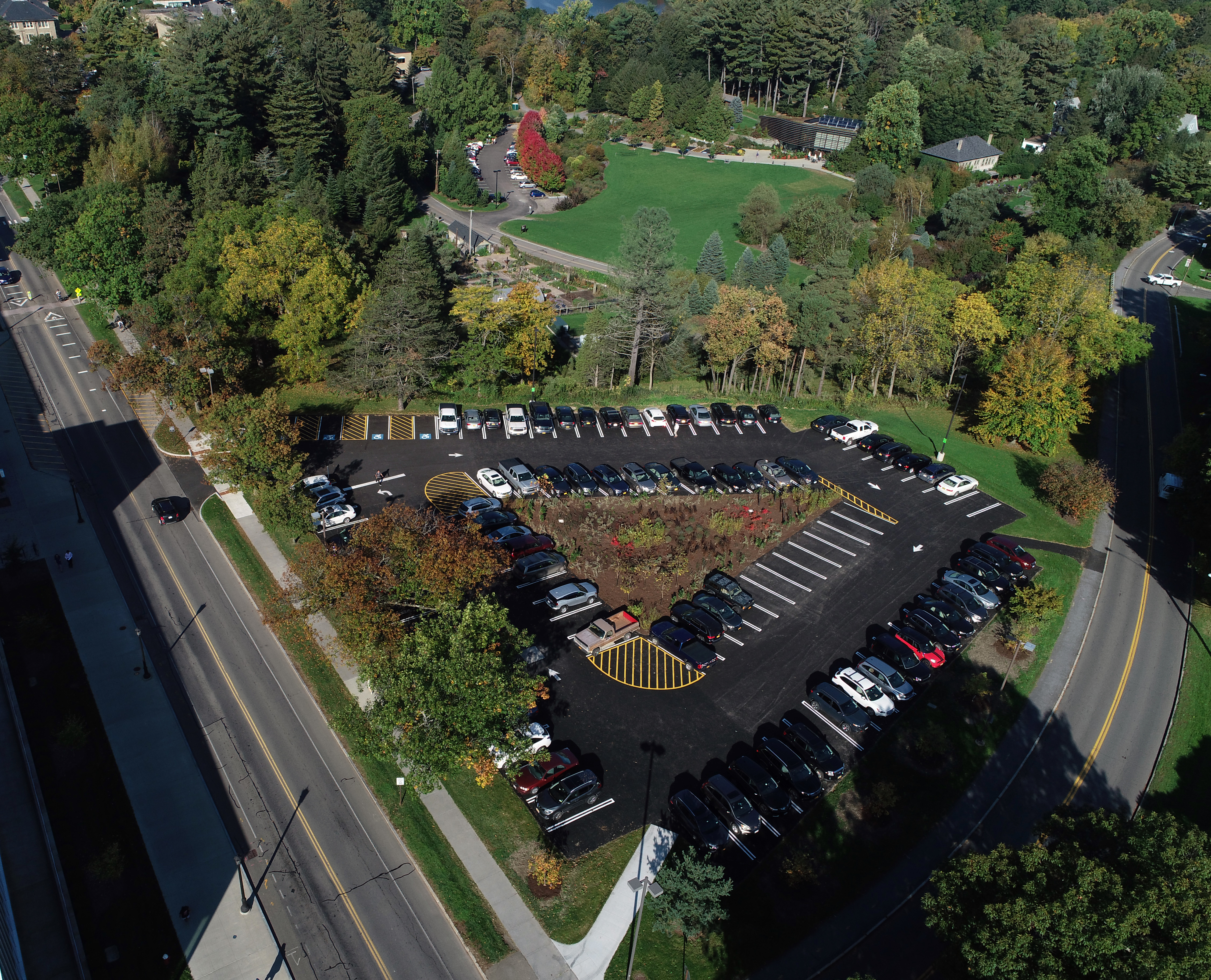 Peterson Parking Lot Aerial View