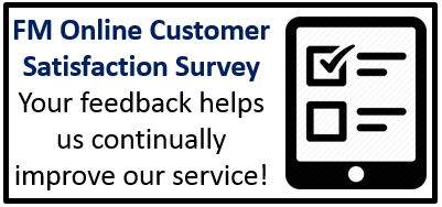 click hereto take the FM online customer satisfaction survey